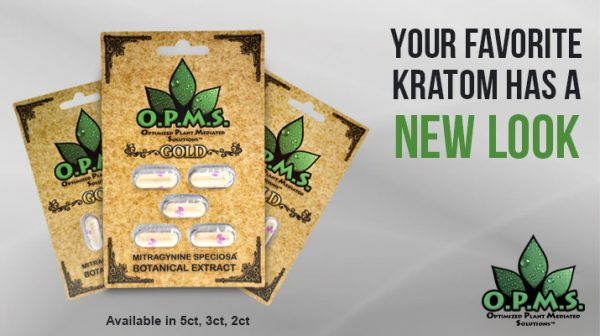 OPMS Kratom Gold Extract Capsules