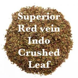 Superior Red Vein Indo Kratom - Crushed Leaf