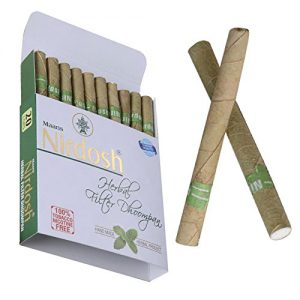 Nirdosh herbal cigarettes. Tobacco & nicotine free